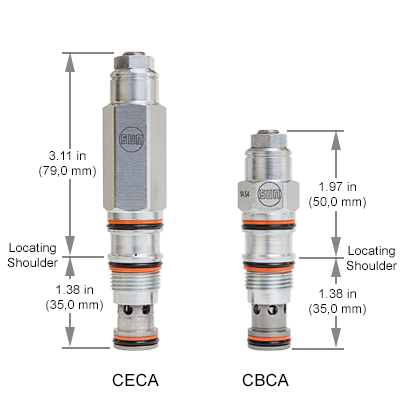 CECA - CBCA Dimension Comparison