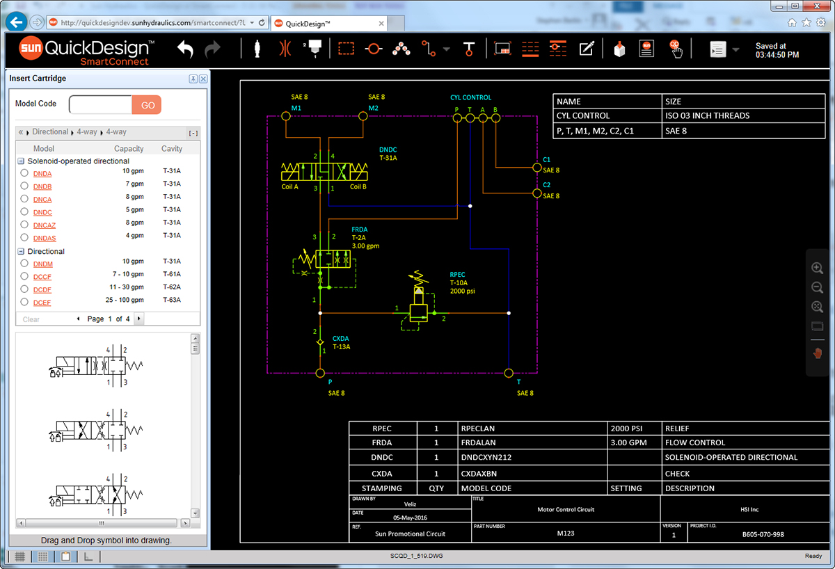 QuickDesign with SmartConnect Schematic Tool